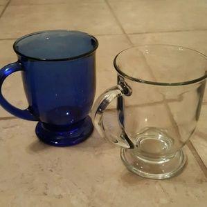 Set of two glass mugs